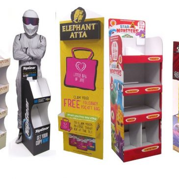 Cardboard FSDUs & POS display for Retail